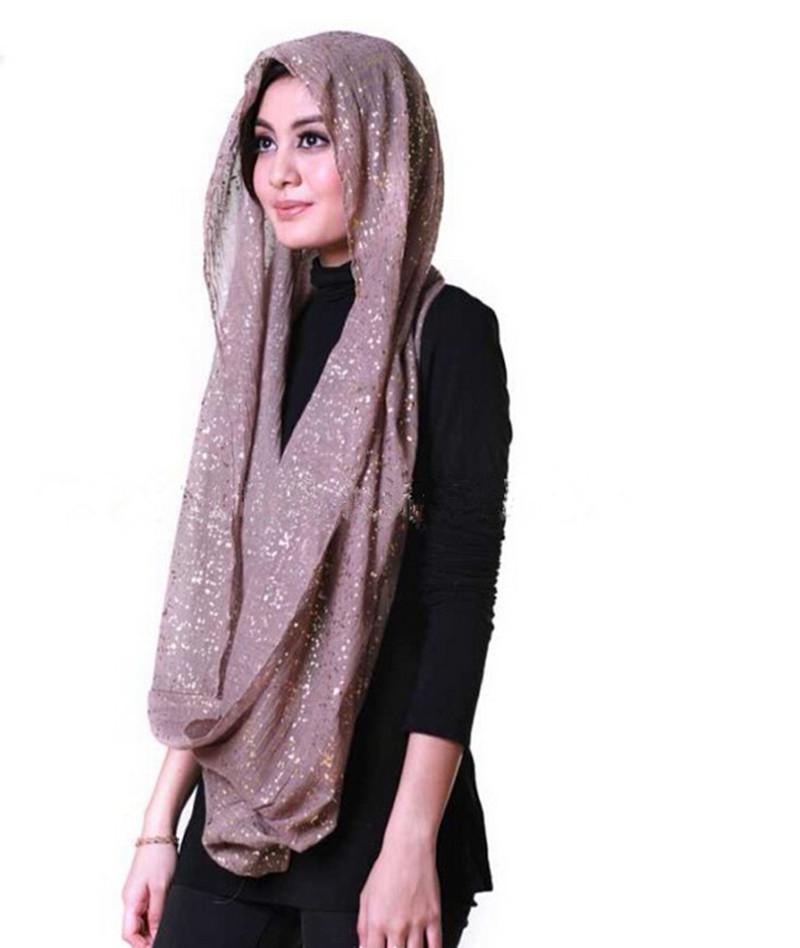 2015 New Gold Glitter Scarf Shawl Wrap Plain Color Long Shawls Muslim Scarves Hijab women's neck scarf(China (Mainland))