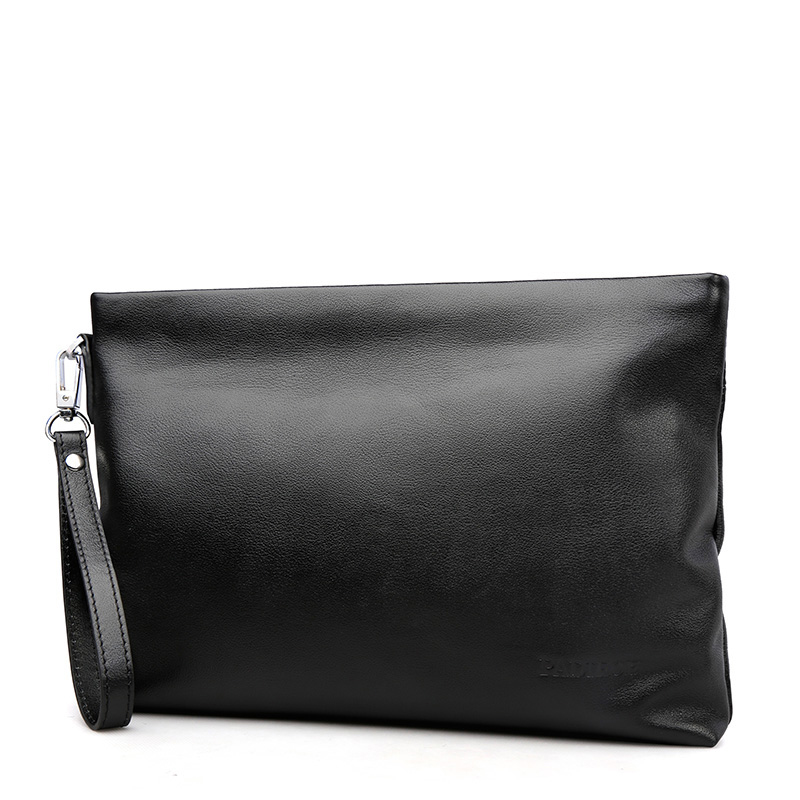 Black first layer real cow leather men clutch bag high quality luxury brand handbags for men soft leather small bags man 48ZP01(China (Mainland))