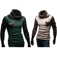 Men Hotsale Fashion Winter Hoodies Sweatershirts Casual Fitted Pullover Cardigan Splice Knitwear Slim(China (Mainland))