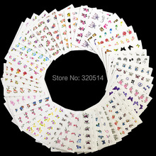 50sheets Mixed Designs Water Transfer Nail Art Sticker Watermark Decals DIY Decoration For Beauty Nail Tools Random Patterns(China (Mainland))