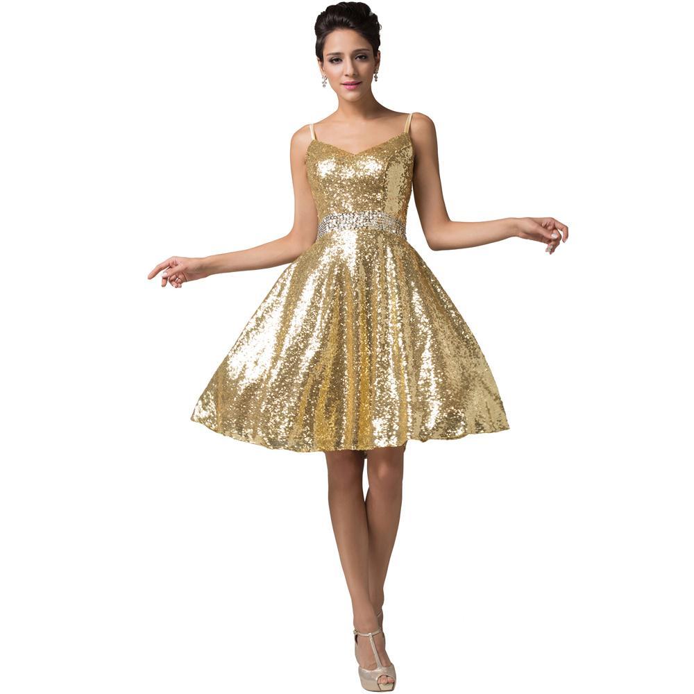 Gold sequin dresses cheap