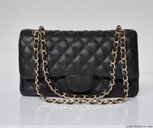 Free shipping 2013 New original caviar calfskin women's shoulder bag women bag women messenger bags black and blue