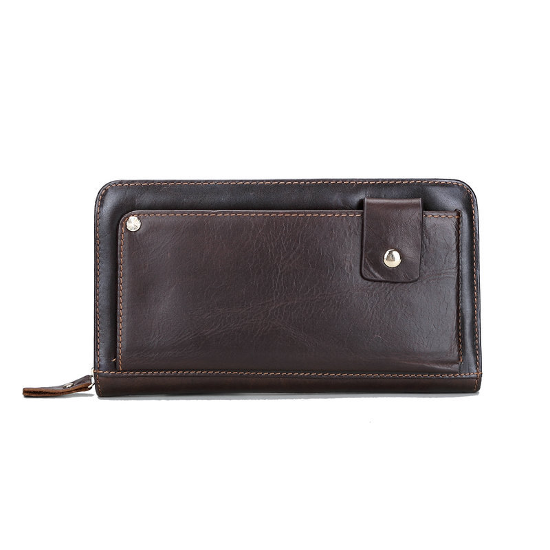 100% Genuine Leather Men Clutch Wallets High Quality Clutch Men Purse with Big Capacity Long Wallet for Men Male Carteira(China (Mainland))