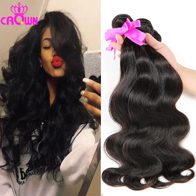 7A Unprocessed Peruvian Virgin Hair Body Wave 3Bundles Crown Hair Products Peruvian Body Wave 100%Human Hair Weave Peruvian Hair<br><br>Aliexpress