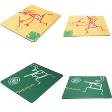 Free Shipping Durable Cartoon Little Guy Rectangle Rubber + PVC Mouse Pad 2 Color Yellow/Green 2015 New Arrival Promotion