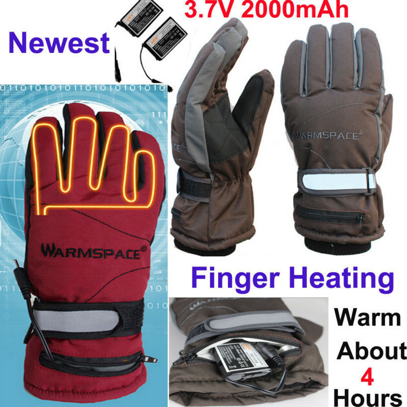 New Winter Fingers Warm 4 Hour USB Electric Gloves Outdoor Sports Rechargeable 2000mAh Battery Self Heated Cycling Ski Gloves(China (Mainland))
