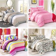 On Sale 4PCS Wedding Bedding-set Bedding Set King Size Bed Sets Sheets Duvet Cover Linens Colcha De Cama NO Cotton Comforter(China (Mainland))