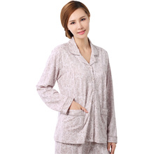 The new 2016 hot spring and summer long sleeve cotton women pajamas M-XXXL size elegant and luxurious and soft free shopping