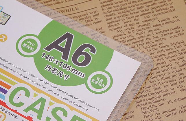 50 pcs A6 148*105MM Hard pvc poster card case Store promotion sign label frame case<br><br>Aliexpress