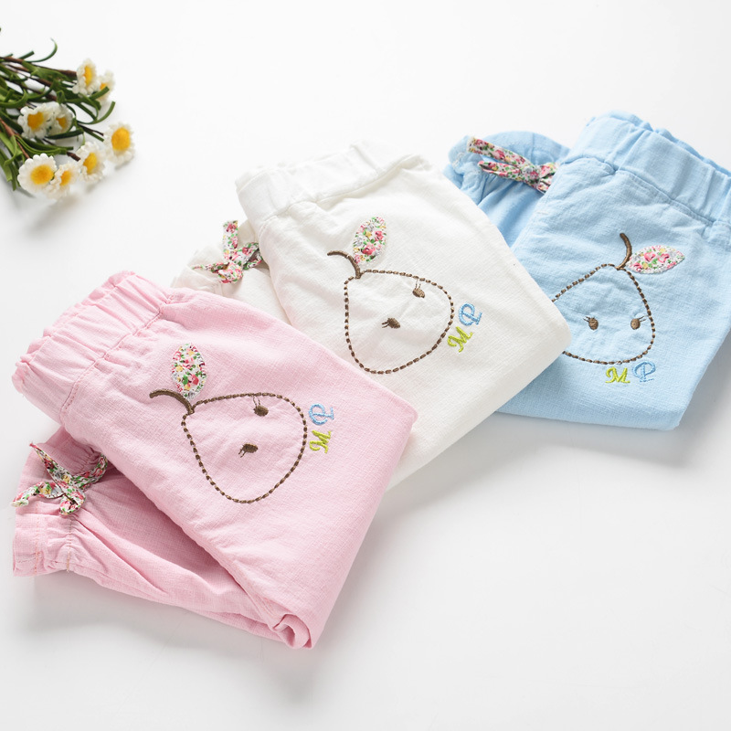 2016 summer girls cotton linen knee-length pants childrens clothing wholesale<br><br>Aliexpress