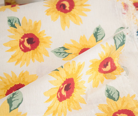 Handwork colorful patchwork sun flower fabric fanshaped Printing fabric table Cotton canvas Fabric Patchwork(China (Mainland))