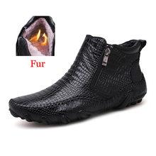 2019 Moda Sıcak Satış Kaliteli Deri Erkek Botları kış sıcak rahat ayakkabılar erkek ayakkabı Fermuar Erkek Ayak Bileği siyah çizmeler büyük boy 47(China)