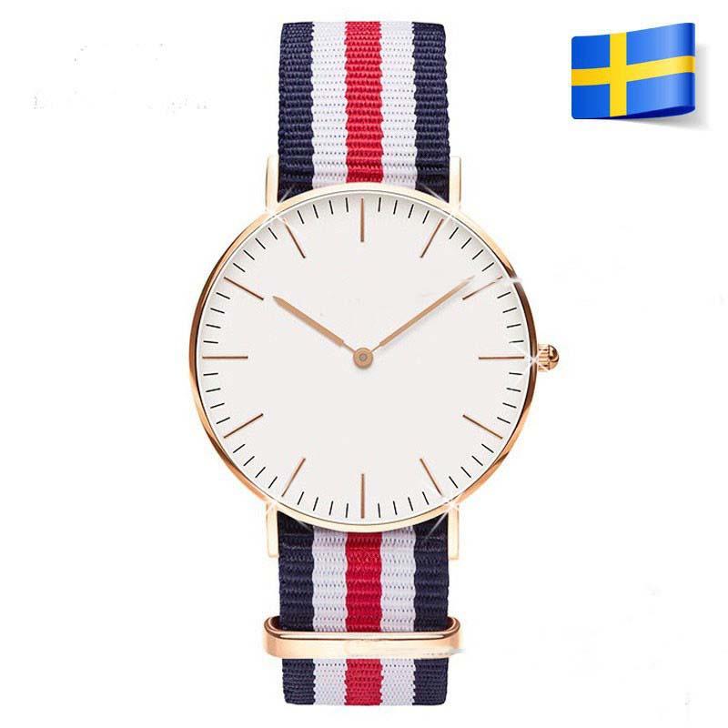 Free Shipping Luxury Leather Nylon Strap Military Sport Quartz Watch Women Men Wrist watch Clock 1201603101