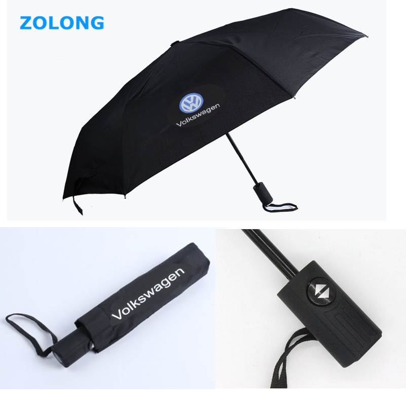 For Volkswagen VW Polo Beetle Golf 4 5 7 6 3 Passat B5 B6 T5 Touran Bora Tiguan Caddy Jetta Touareg Automatic Folding Umbrella(China (Mainland))