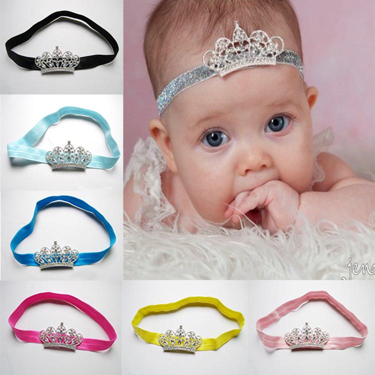 Retail Newest baby headband crystal crown headband Hair Accessories Headwear Infant Baby hair Headband drop shipping(China (Mainland))