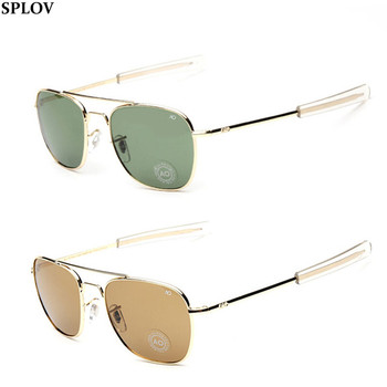 2016 New AO Pilot Glass Lens Sunglasses High Quality US Air Force Sunglasses Men Brand Driving Sun Glasses Oculos de sol Summer