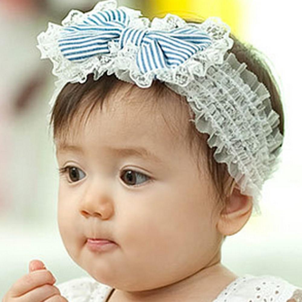 Hot Baby Girls Hair Bands Lace Big Bow Cowboy Hair Band Baby Head Wrap Headband Accessories hair accessories turban elastic W8(China (Mainland))