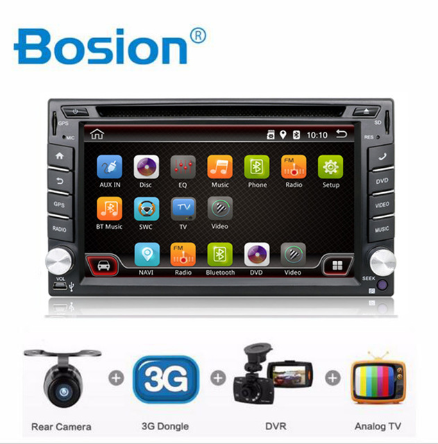 2016 2 Din Pure Android 4.4 Car DVD Player Navigation Stereo Radio GPS WiFi 3G CAPACITIVE Touch Screen Back Camera Car PC(China (Mainland))