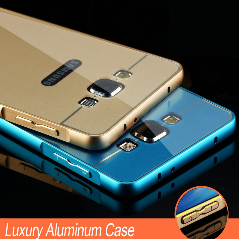 Гаджет  New 2015 Luxury Hybrid Aluminum Frame + Metal Case For Samsung Galaxy A3 A3000 Ultra Thin Phone Back Cover Shell For Galaxy A3 None Телефоны и Телекоммуникации