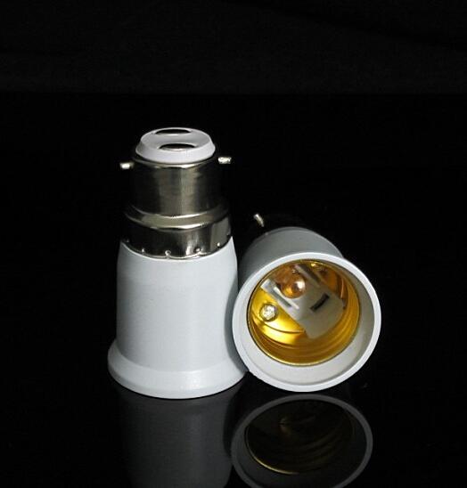 Bayonet B22 To E27 Screw Light Bulb Adaptor Lamp Fitting Converter Holder 20PCS(China (Mainland))