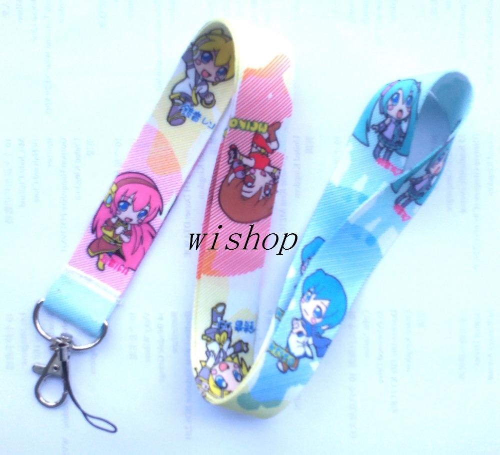 Free Shipping 20 Pcs Japanese Anime Lanyards Neck Strap Camera ID Card Lanyard Mobile Phone Neck Straps TT02(China (Mainland))
