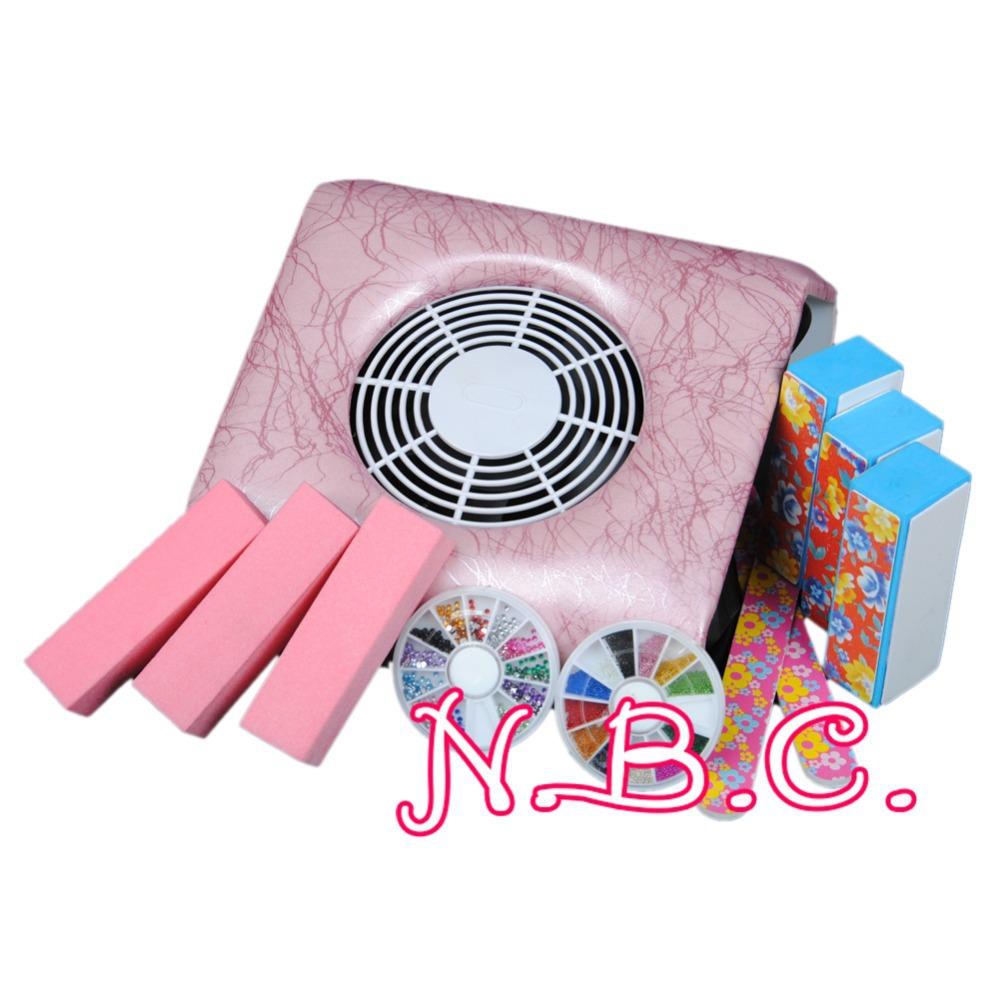 New Professional Nail Art Dust Suction Collector Manicure Filing Acrylic Block Buffer Machine Nail Art Tools(China (Mainland))