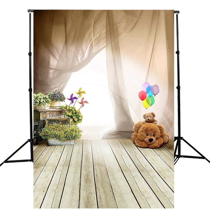 5x7ft Baby Bear Kids Floor Wall Window Photography ...