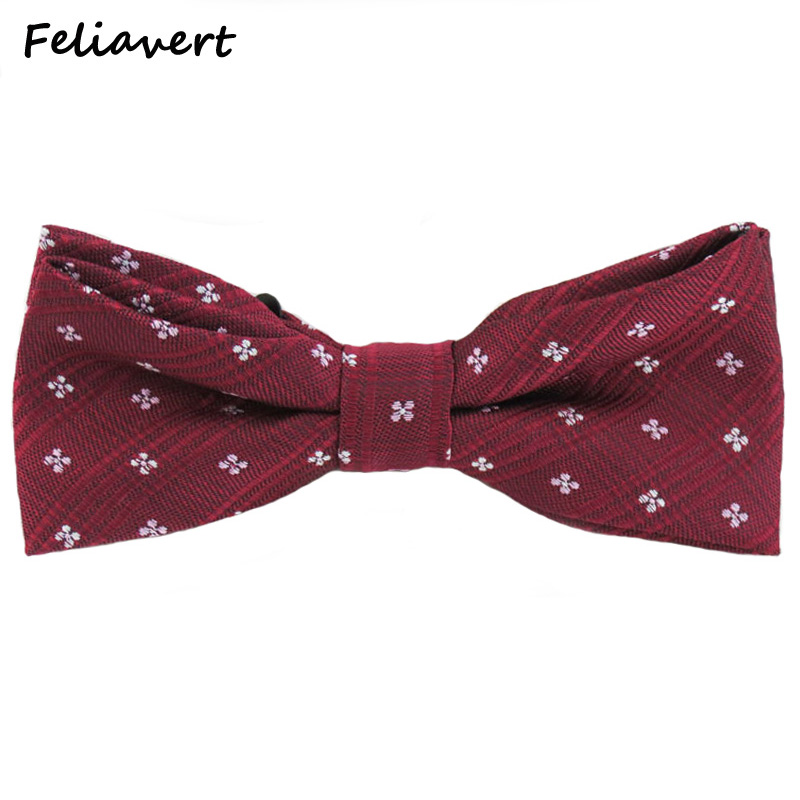 Fashion mens bow tie plaid print Polyester silk Wedding Business gents bowtie casual party ties men bowknot 5cm skinny cravat(China (Mainland))