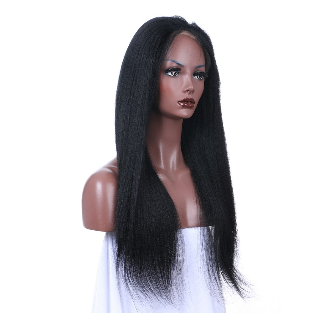 Isabel 7A Grade Yaki Straight Full Lace Human Hair Wigs Peruvian Virgin Hair Full Lace& Front Human Hair Wigs For Black Women