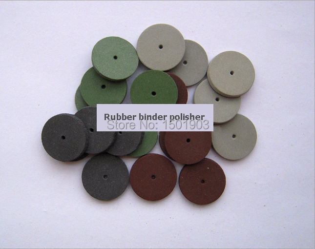 100pcs 3mm thickness Denture Polishing Rubber binder polisher dental consumables free shipping