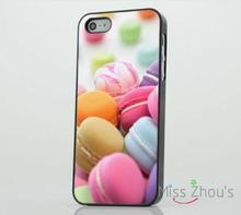 Colourful Macaroons Food Cakes Sweets back skins mobile cellphone cases for iphone 4/4s 5/5s 5c SE 6/6s plus ipod touch 4/5/6