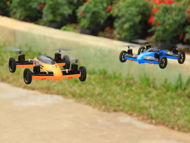 Air-Land Dual Mode RC Flying Car Drone onekey rolling Quadcopter UFO RC Helicopter Toys VS SYMA X9 SY X25 JJRC H3 quadricopter<br><br>Aliexpress