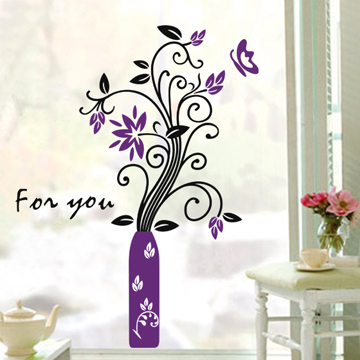 Finecut tv wall stickers ofhead furniture stickers welcome flower decoration(China (Mainland))
