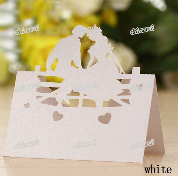 bride and bridegroom invitation place paper card table Decoration Wedding Party Event Decors festival favor Wholesale(China (Mainland))