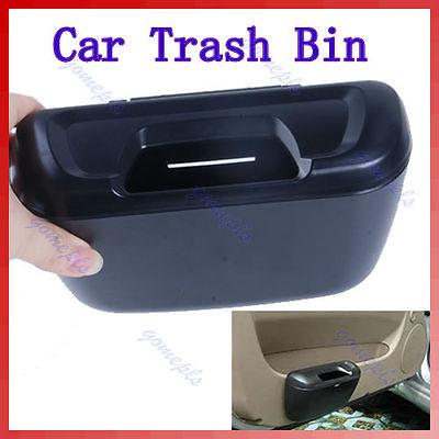 "M112""Mini Auto Car Trash Rubbish Can Garbage Dust Case Holder Box Bin Black(China (Mainland))"