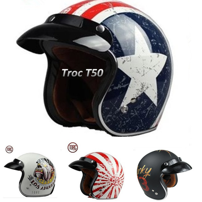 Capital rabel star torc skiing skating champion helmet 3/4 open face retro vintage capacete motorcycle helmet DOT safe Approved(China (Mainland))