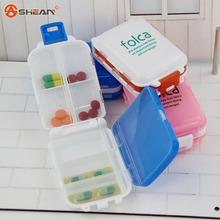 Novelty Min Bin Shape Portable Pill Box Holder Organizer Case Medicine Removerable Dispenser, 4 colors / Sent at random(China (Mainland))