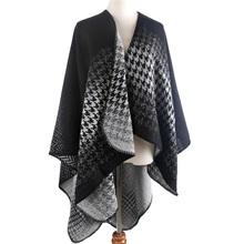 2016 Oversize Winter Acrylic Cashmere Immitation Plaid Scarf Brand Blanket Shawl Designer Pashmina Wrap Stole For Women(China (Mainland))