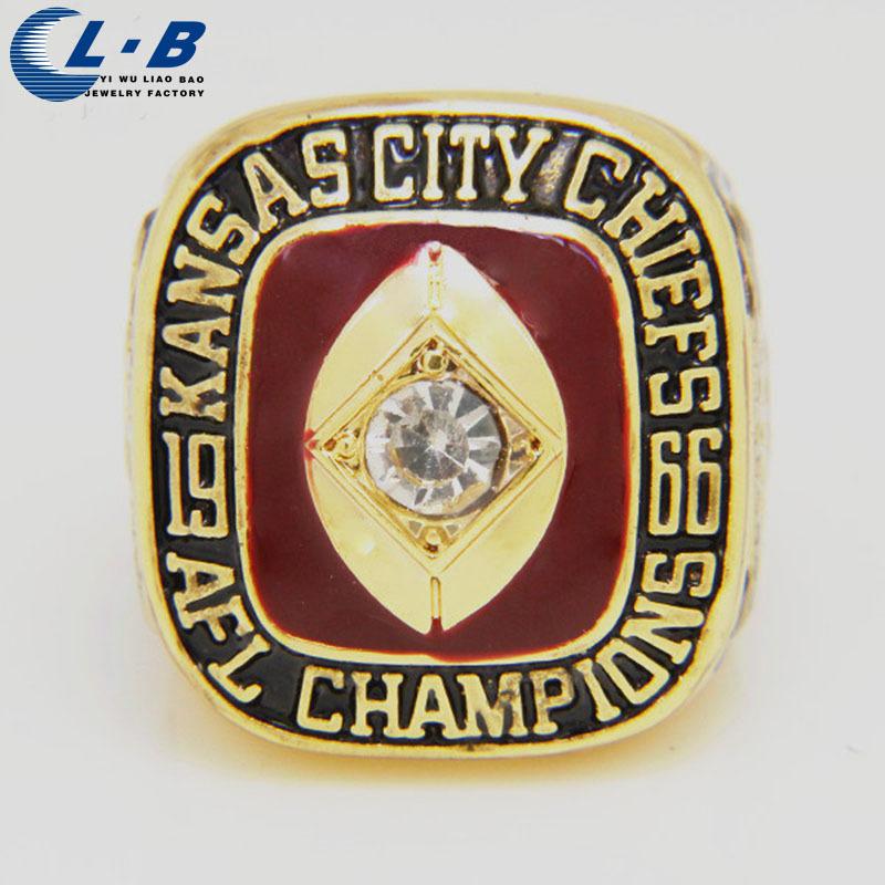 Jual Hot 1966 Pengiriman Kansas City Championship Cincin Replica Ukuran 11 Menakjubkan 18k Kualitas Emas Disepuh Gratis(China (Mainland))