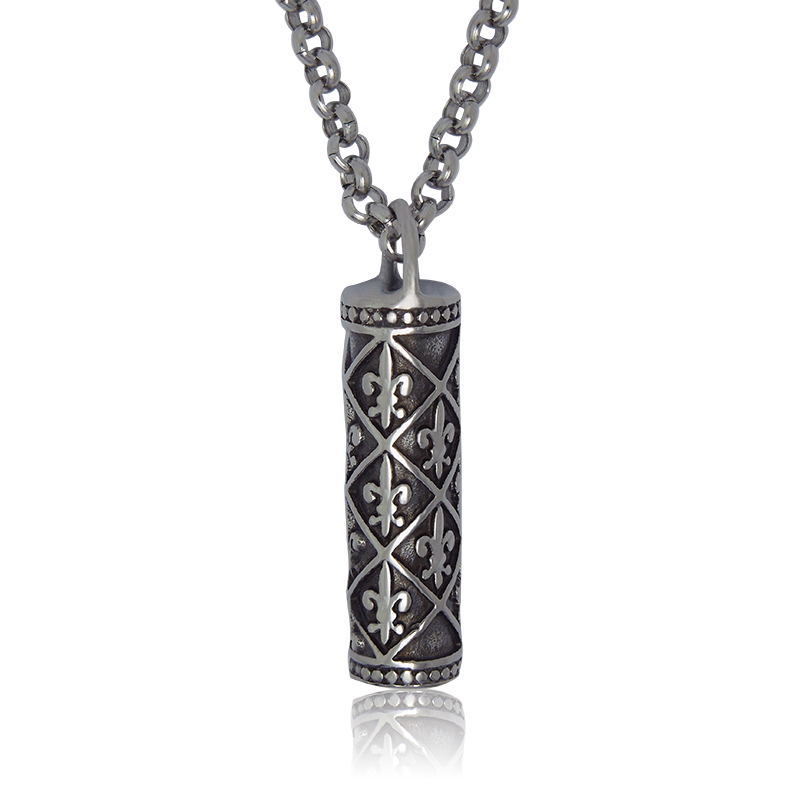 European Vintage Cylindrical Necklaces Pendants Titanium Steel Personality Chain Men Women Fashion Jewelry - Sunshine Fine Jewellery store