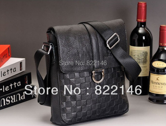 Genuine Leather Men's Casual Bags Man Bag One Shoulder Cross-body Handbag Men's Cowhide Casual Shoulder Bag