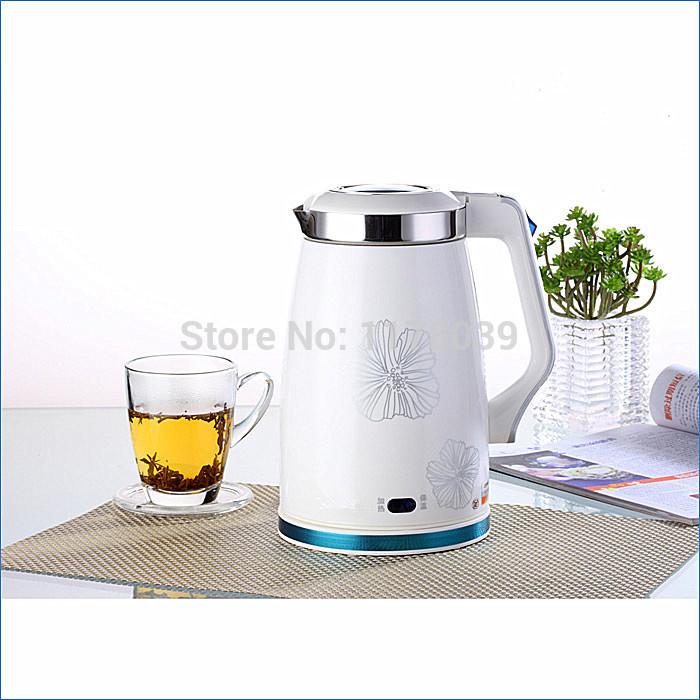 small electric water kettle 1.5L 1350W Anti-dry,white electric kettle stainless,insulation cordless kettle,Free Shipping J14397(China (Mainland))