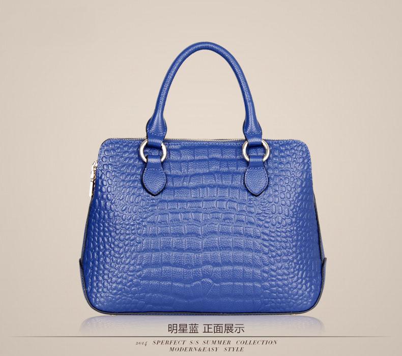 2014 women messenger bag British style Crocodile womens genuine leather handbag vintage shoulder bag fashion crossbody bolsas<br>