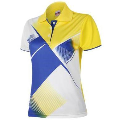 Fresh badminton shirt Purple girl sport wear White summer tennis clothing Yellow sportwear(China (Mainland))