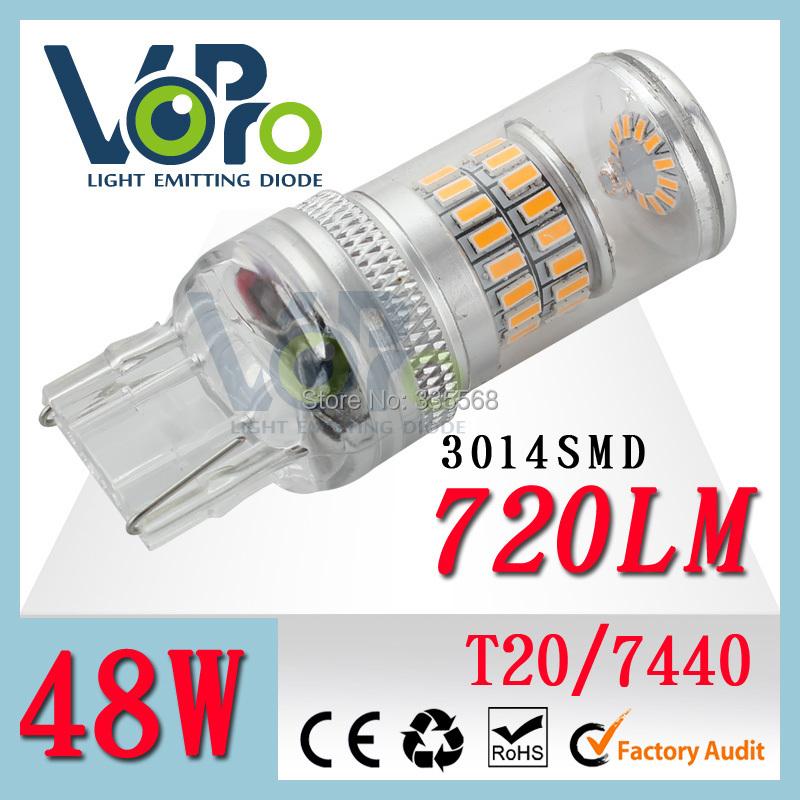 2014 new high lumens 3014 smd led, 7440 led wireless turn light ,1156 7443 7440 3156 3157,H7 H8 H9 H10 H11 T15 t10 5w5 bulbs(China (Mainland))