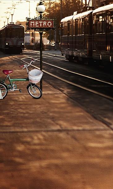 Здесь можно купить  New arrival Background fundo Bicycle Train Train 600CM*300CM width backgrounds LK 2920  Бытовая электроника