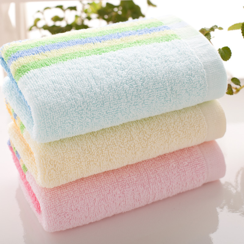Face Towel Cotton Terry Striped Bath Hand Clean Towel For Adult(China (Mainland))