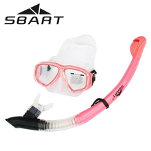 SBART Professional Silicone Scuba Diving Mask Goggles Snorkel Set Anti-Fog Lens Glasses Spearfishing Swimming Pool Equipment(China (Mainland))