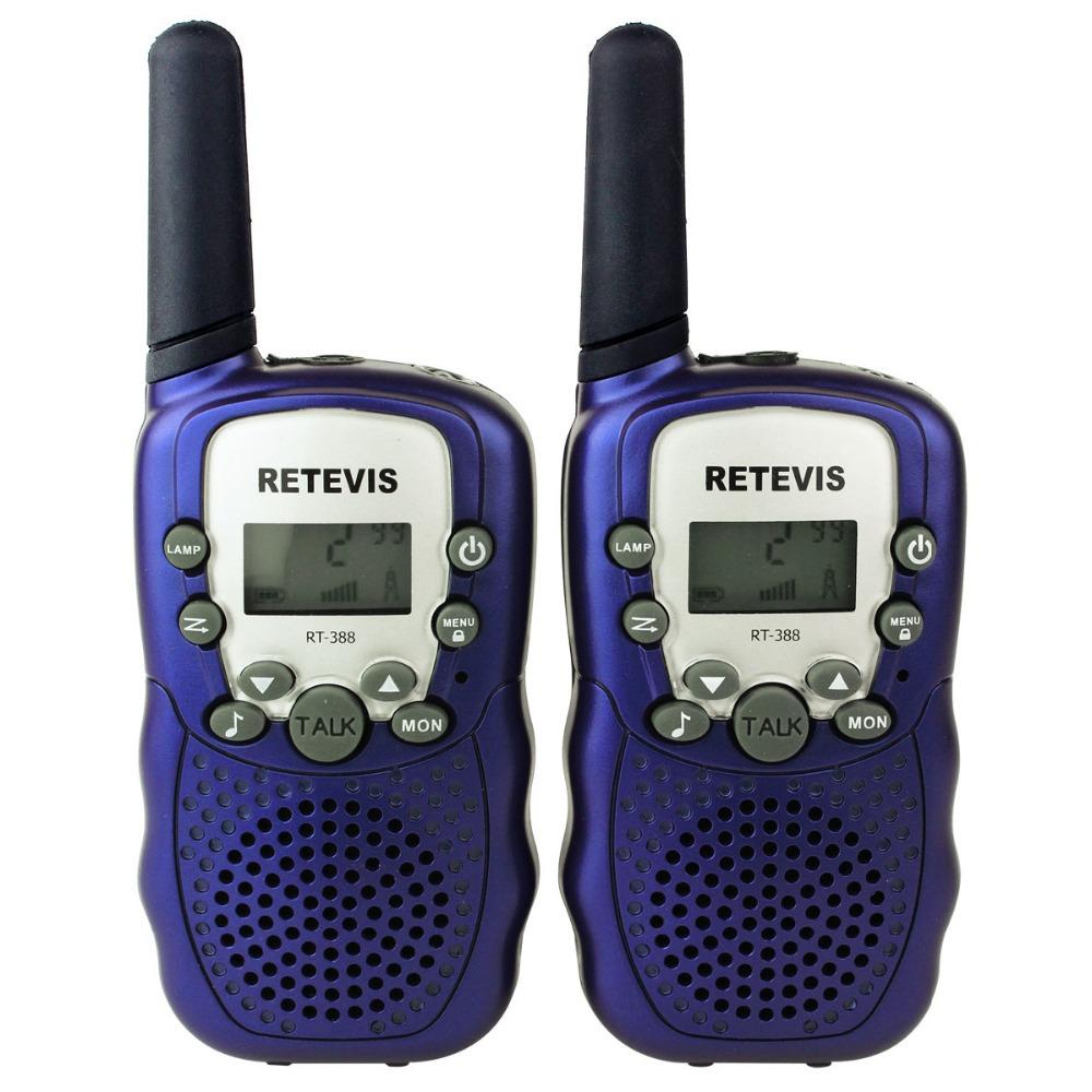 2PCS Mini Portable Ham CB Radio Kids Walkie Talkie Retevis RT-388 UHF 0.5W 22CH LCD Display Flashlight VOX Two way Radio A7027Z(China (Mainland))