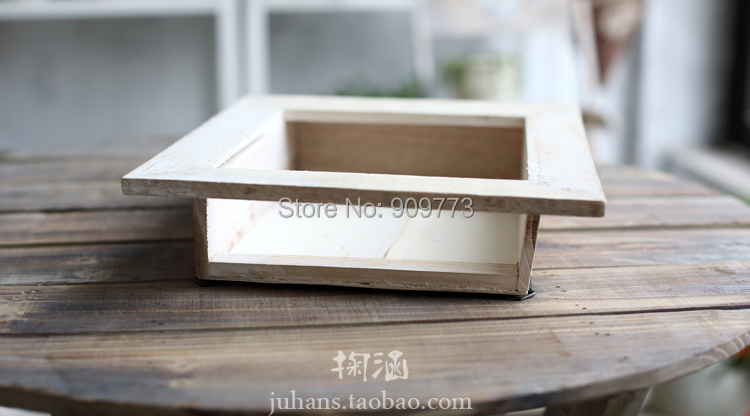 Desktop bonsai pots do the old wooden balconies technology multilayer paint handling Paulownia width24 5 6